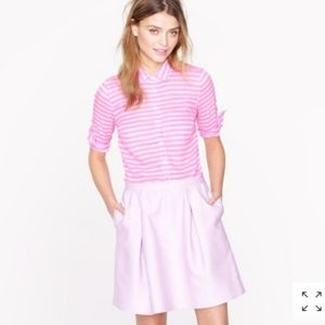 J. CREW pink striped silk top